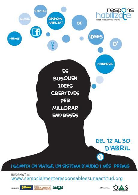 Cartell del concurs 2.0 d'idees creatives en Responsabilitat Social per a pimes