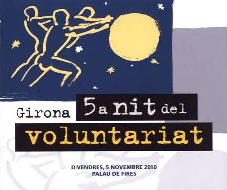 Cartell de la 5a Nit del Voluntariat a Girona