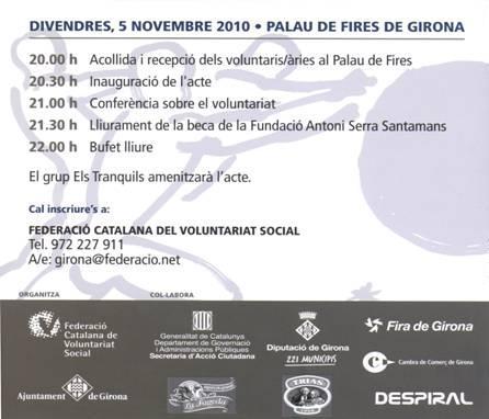 Programa d'actes de la 5a Nit del Voluntariat a Girona