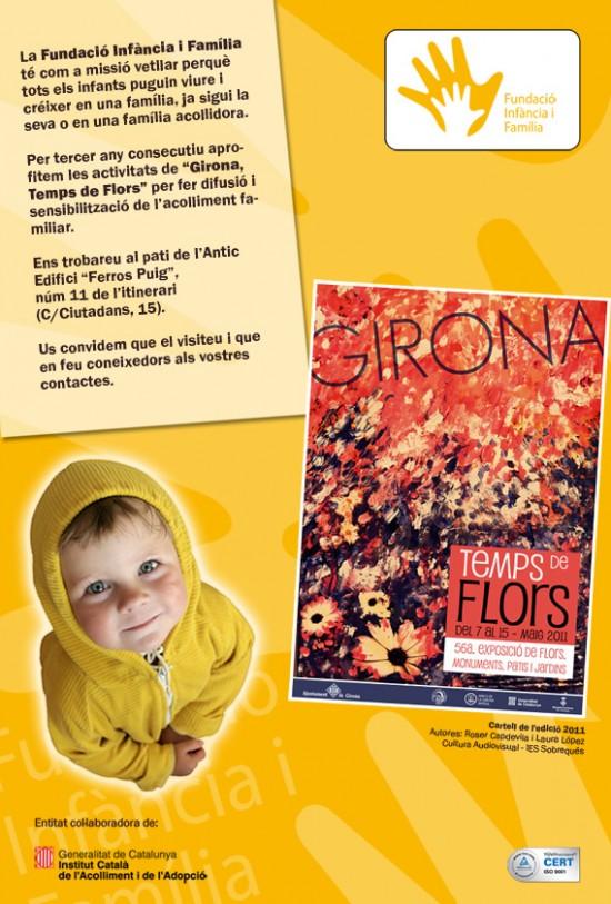 """Cartell de la Fundació Infància i Família de """"Girona, Temps de Flors"""""""