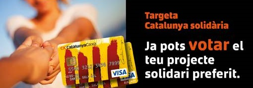Imatge promocional de la campanya de la Targeta Catalunya Solidària de CatalunyaCaixa.